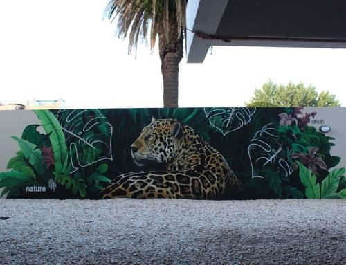 Mural «Yaguarete» en Nature Studios